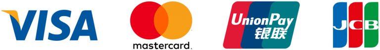 รองรับการชำระเงินผ่าน Visa, Master Card, JCB, UnionPay