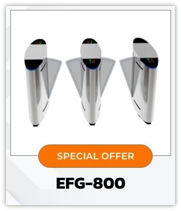 EFG800-ประตูกั้นไฟฟ้าแบบปีกผีเสื้อ-Flap Gate